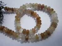 8 inch  rutile 7mm faceted rondelle beads one strand