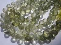 7 inch lemon 7-8mm faceted onion  beads one strand