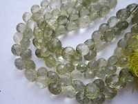 7 inch lemon 9mm-10mm faceted onion  beads one strand