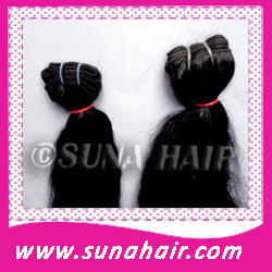 Natural attractive indian machine weft human hair