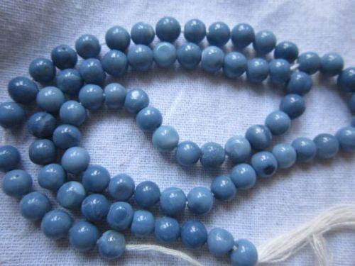 14 inch 5mm Aquamarine Plain Nugget Beads