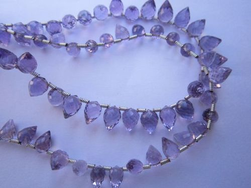 Brazil amethyst faceted beads one strand 34 pcs. 4x6mm to 5x7mm
