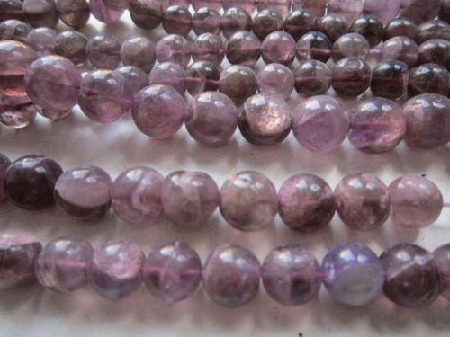 bio amethyst 13 inch plain round beads gemstone 8mm-10mm