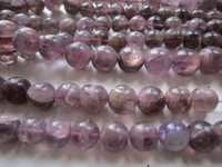 bio amethyst 13 inch plain round beads gemstone 8mm-10mm