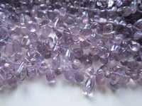 13 inch brazil amethyst plain drops shape bead one strand