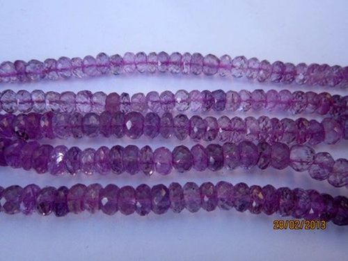 13 inch Pink Amethyst 5mm-6mm faceted roundell beads gemstone