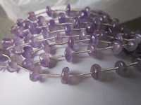 11 pcs pink amethyst plain roundell beads 7mm-8mm