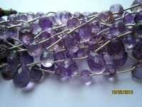 BRAZIL amethyst Machine cut side drill drop 6x9mm to 7x10mm to beads 12 pcs