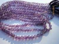 13 INCH BRAZIL AMETHYST 3.5MM-4.5MM MACHINE CUT ROUND GEMSTONE BEADS