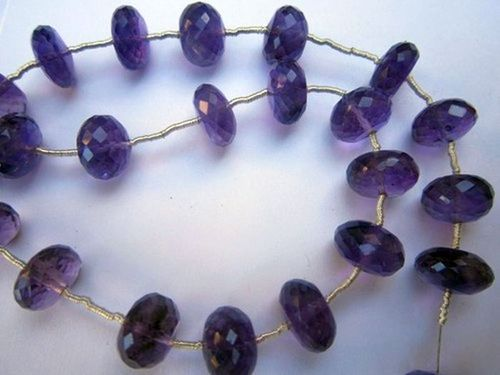 Amethyst 10 pcs. 10mm-11mm faceted roundell beads gemstone