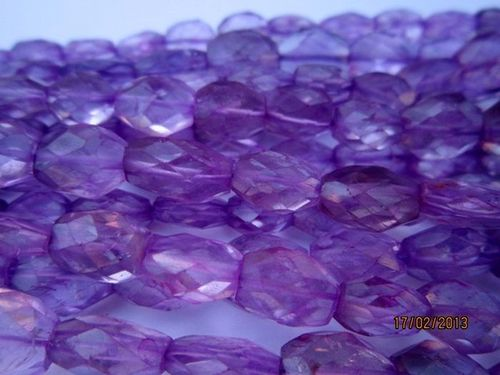 13 INCH PINK AMETHYST 6X9MM TO 7X10MM FACETED OVAL BEADS GEMSTONE