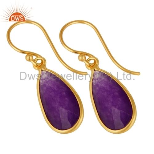 Aventurine Gemstone Designer Earrings Jewelry