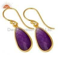 Aventurine Gemstone Designer Earrings Jewelry