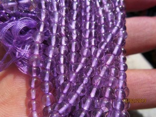 13 INCH PINK AMETHYST 2MM-2.5MM ROUND BEADS GEMSTONE