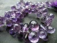 7 INCH BRAZIL AMETHYST 5X8MM TO 6X9MM MACHINE CUT SIDE DRILL DROP BEADS GEMSTONE