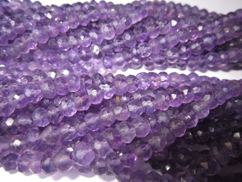 13 inch Brazil Amethyst 4mm-5mm faceted roundell beads gemstone