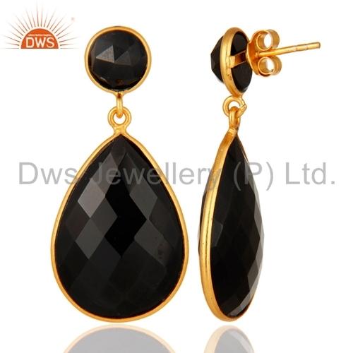 Black Onyx Gemstone Earring Supplier