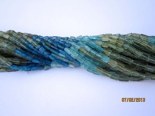 13 INCH MULTI APATITE 3X5MM TO 4X6MM CUBE BEADS GEMTSONE