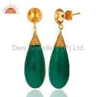 Citrine Green Onyx Gemstone Earring Jewelry