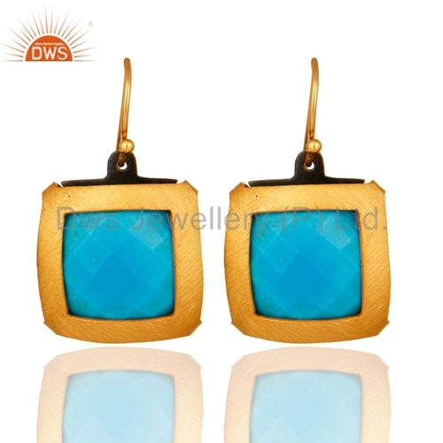 Turquoise Gemstone 925 Silver Earrings Jewelry