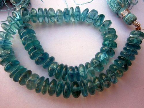 Apatite plain roundell beads gemstone 7 inch 7mm-8mm