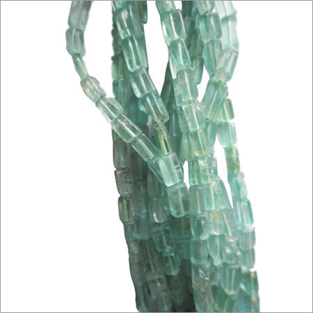 13 inch Green apatite  plain cube beads 3x6mmto 3x7mm