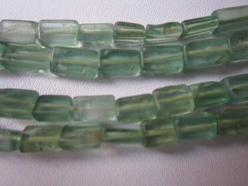 13 inch peridot color apatite  plain cube beads 3x6mmto 3x7mm