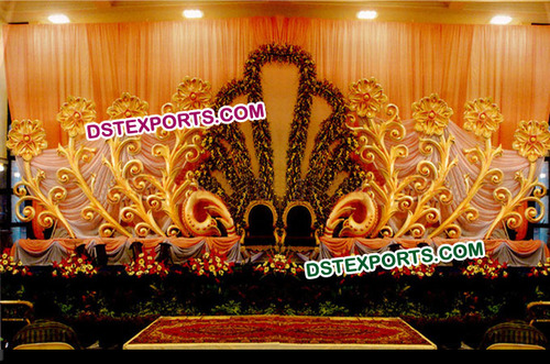 Wedding Stage Flowered Backdrop Panel