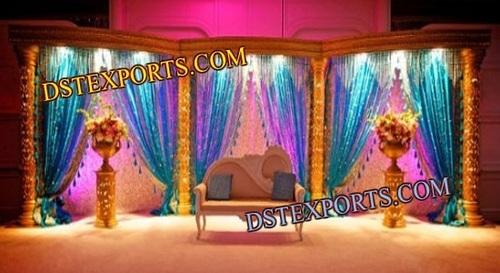 Muslim Wedding Sparkling Gold Stage Set