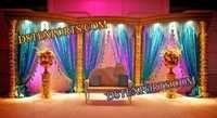 Muslim Wedding Sparkling Gold Stage Set