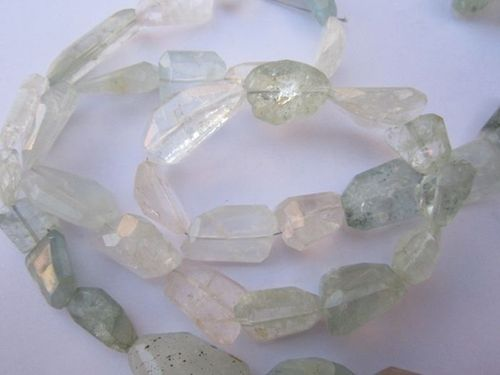 Milky Aquamarine cutting nuggets beads gemstone 210 cts. 16 inch