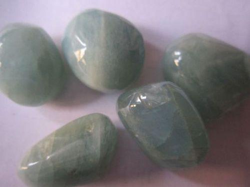 5 pcs. Aquamarine plain nuggets beads gemstone