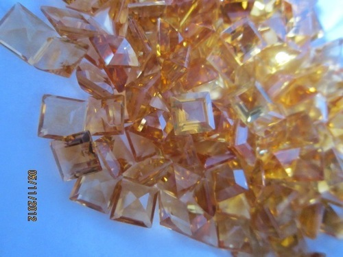 AAA++ 10cts. ORIGINAL CITRINE 5MM FACETED OCTAGON CUT SQUARE BEADS LOOSE