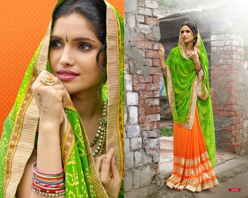 Chiffon Multi-color saree