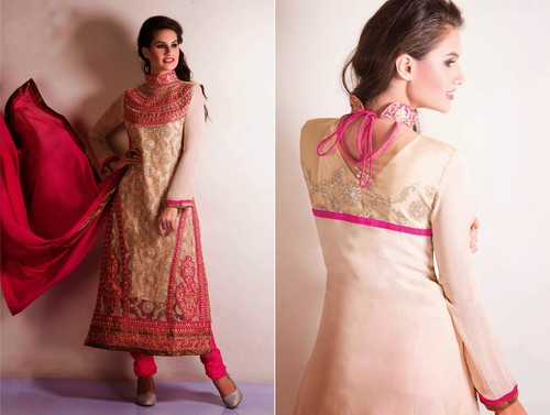 Designer Long Straight Suit