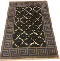 Cotton Kilim Dhurrie Rug Cotton Handwoven Multicolor Dhurrie, Traditional Carpets