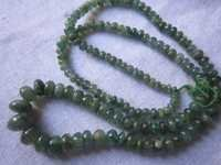 18 inch natural emerald plain rondell beads one strand