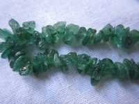 13 inch natural emerald plain chips beads one strand