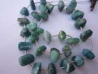 emerald fancy nuggets  30 pcs. beads gemstone