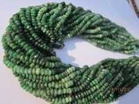 13 inch emerald 4mm-5mm machine cut faceted rondell beads gemstone