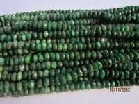 13 inch emerald 5mm-6mm machine cut faceted rondell beads gemstone