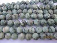 8 inch natural emerald 9mm-10mm machine cut faceted round beads gemstone