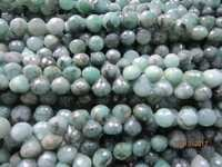 7 inch natural emerald 7mm-9mm faceted onion shape beads gemstone