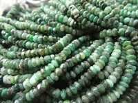 13inch natural emerad-3mm fac. rondell gemstone beads