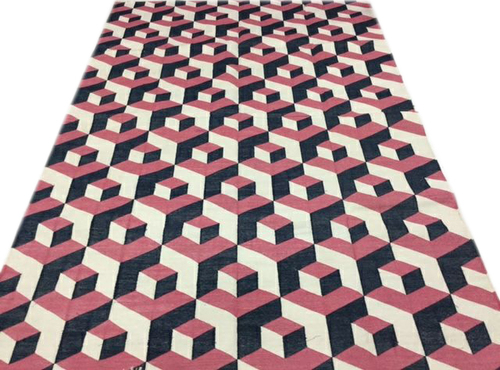 Cotton panja Rugs,Cotton Geometrical Punja Weave Rug,Earthy Rug