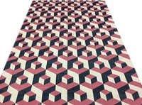 Cotton panja Rugs,Cotton Geometrical Punja Weave Rug,Earthy Rug