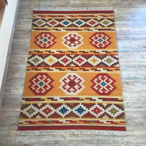 Handwoven Wool Kilim Rug
