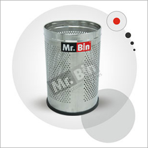 SS Perforated Round Bin