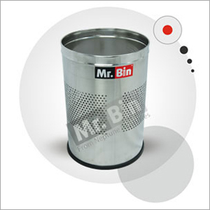 SS Half Perforated Round Bin