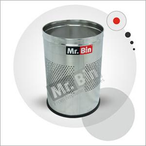 SS Half Perforated Round Bin